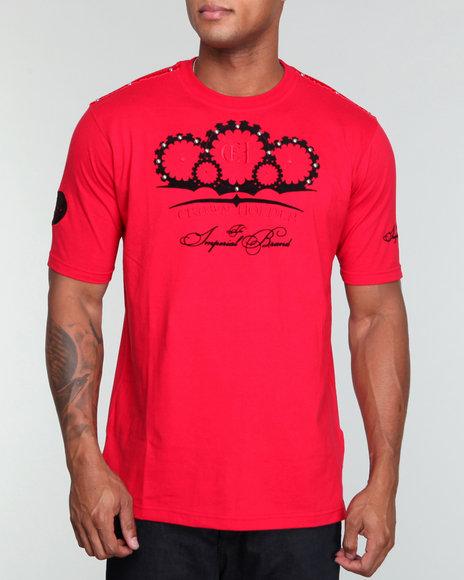 Crown Holder Men Red Crown Holder Log Tee