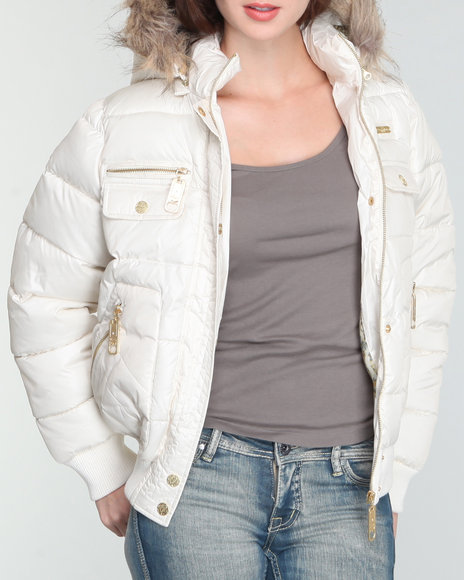 core puffer hooded jacket