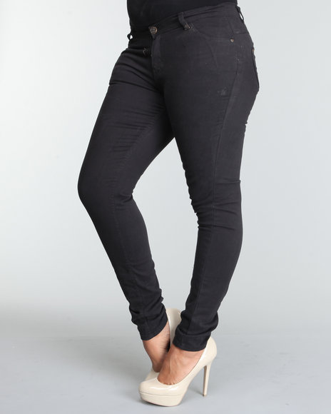 Apple Bottoms Women Black Logo Skinny Jean (Plus)
