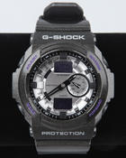 G-Shock by Casio - GA-150MF-8A Black Band w/ Silver Face and Purple Accents watch