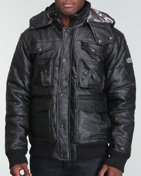 609fde468f78 Description  Coogi Men Vegan Leather Pocketed Quilted Jacket - Outerwear  E-Store  DrJays.com. Price   149.99. Click the Image to Buy Now