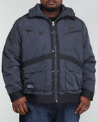 Cold Weather- MEN - Moto - Style Strapped Jacket (B&T)