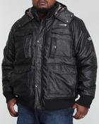 Deals-Men - Vegan Leather Pocketed Quilted Jacket (B&T)