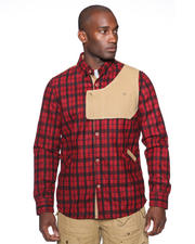 Psyberia - Heavyweight Urbaneer Flannel Shirt Jacket
