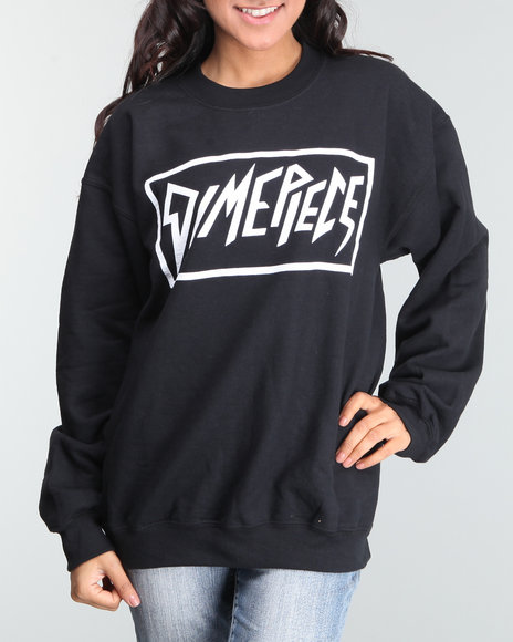 Dimepiece - Women Black Dimepiece Logo Sweater