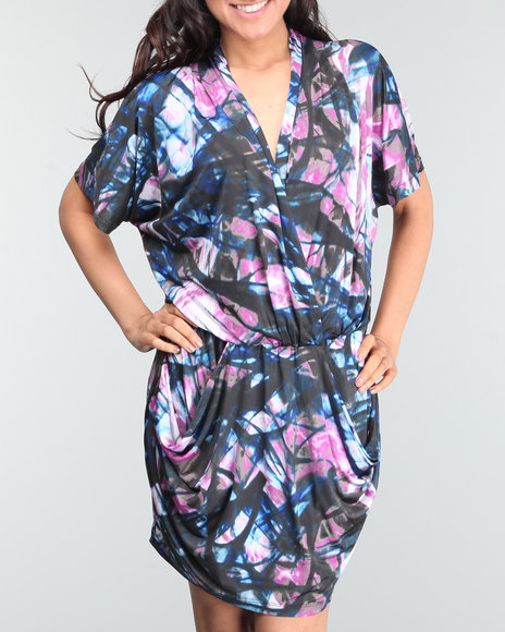 Baby Phat Women Multi Slinky Dress W/ Pockets