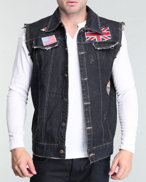Hudson Nyc Men Black Ziki Denim Vest