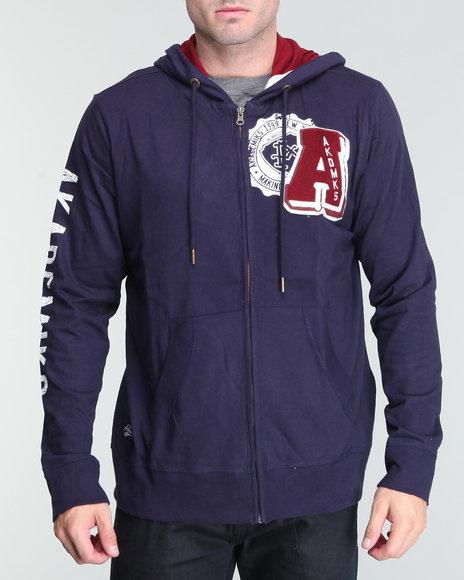 Akademiks Men Navy Berkley Lightweight Hoodie Pullover