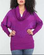 Sweaters - COWL NECK DOLMAN SWEATER