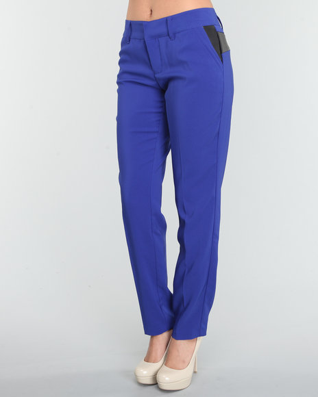 Baby Phat Women Blue Skinny Pant With Trim