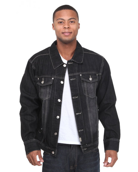 - Khalif Washed Denim Jacket