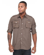 Button-down - Captain Roger Military Shirts with Prints