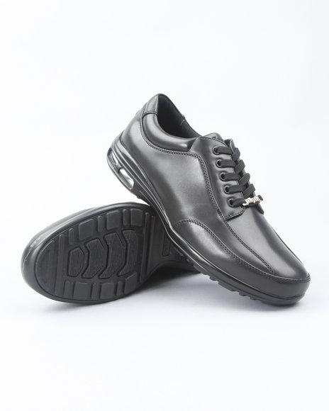 Pelle Pelle Men Black Pelle Lowtop Dress Sneaker-Shoe