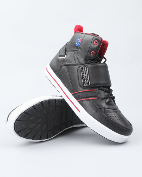 COOGI Black Monarque Strap Hi Sneakers