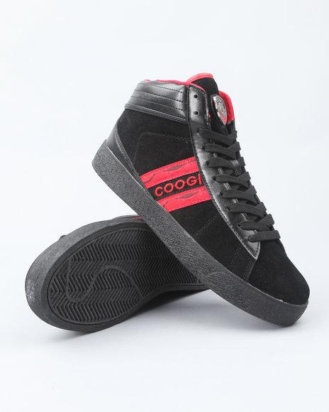 COOGI Men Black Pro Model Hi Sneakers