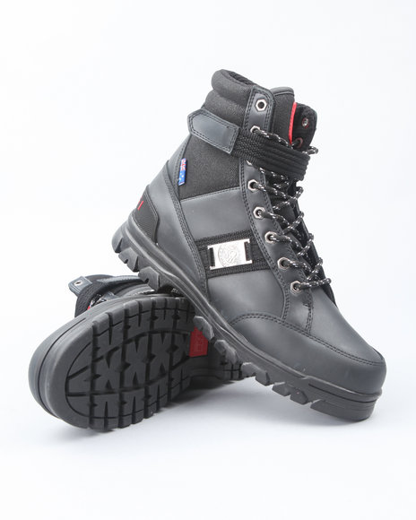 COOGI Men Black Prophecy Rugged Boots