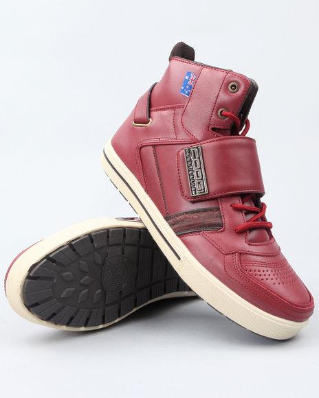 COOGI Men Red Monarque Strap Hi Sneakers
