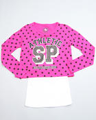 Southpole - POLKA DOT DOLMAN SLEEVE TWOFER TOP (7-16)