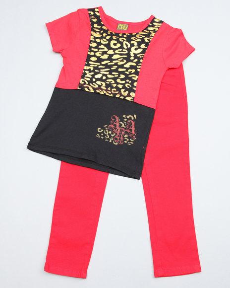 Akademiks Girls Multi 2 Pc Set - Top & Jeans (4-6X)