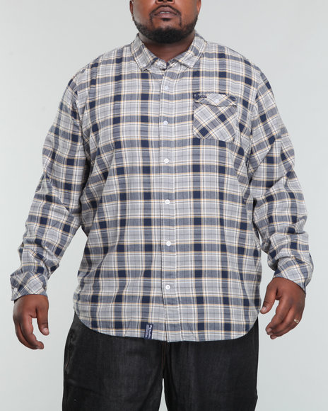 Lrg Men Grey Future Scholar L/S Button-Down (B&T)