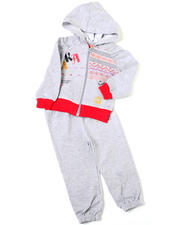 4-6X Little Girls - 2pc Printed French Terry Set (4-6X)