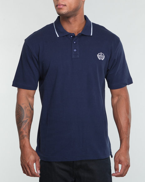Enyce Men Midnight Reprise Solid Polo