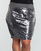 Baby Phat - SEQUIN PENCIL SKIRT (PLUS)