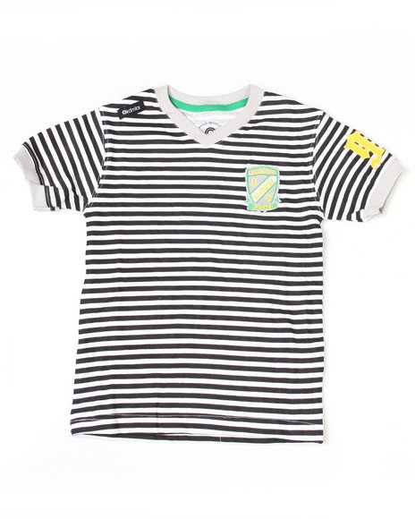 - Absolute Jeanius V Neck Stripe Tee (8-20)