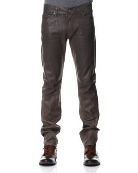 7 for All Mankind - Leather Denim Slimmy Fit Jean