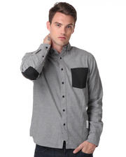 DJP OUTLET - Patchen Oxford Shirt with Printed Elbow Patch
