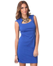 Women - Cap Sleeve Sexy Fitted Sheath