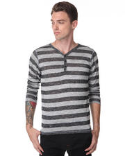 Hoodies - Stripe Henley