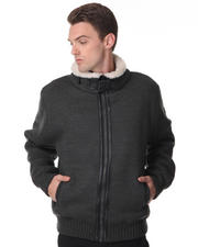 DJP OUTLET - B-3 Bomber zip front sweater jacket