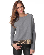 Women - Michel Marled Terry Sequin Sweater
