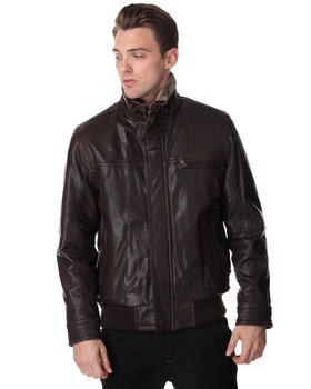 DJP OUTLET - Nucky Rugged Leather Bomber
