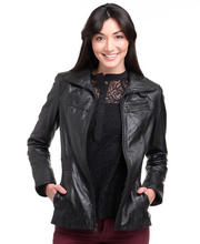 DJP OUTLET - Trace Tumbled Smooth Leather Fitted Jacket