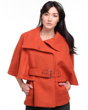 DJP OUTLET - Aerial Textured Wool Belted Cape