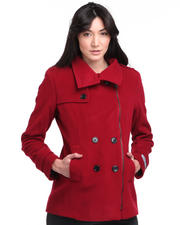 DJP OUTLET - Poet Double Breasted Italian Cashmere Wool Coat