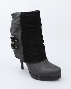 Fashion Lab - Ankle bootie w/buckle