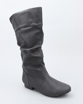 Fashion Lab - Flat pull up boot