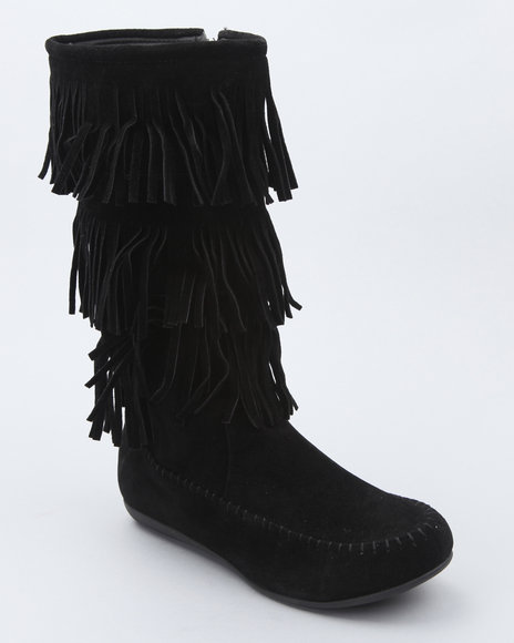 Fashion Lab Women Black Tall Moc Boot