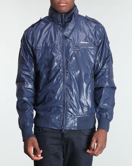 Live Mechanics Blue Victors Perforat Jacket