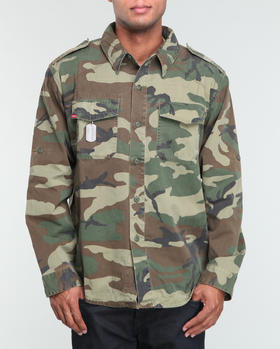 Rothco - Woodland Camouflage Vintage Fatigue Shirt