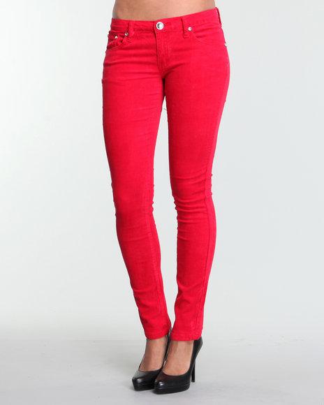 Basic Essentials Women Corduroy Pants Maroon 1 | Sku 1427139 | Buy ...