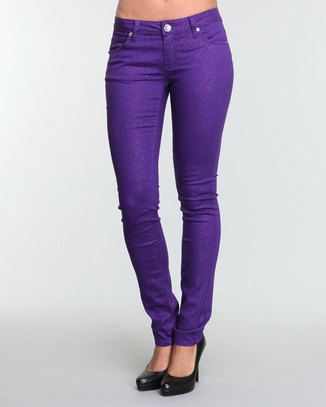 Brilliant  Ultra Stretch Skinny Fit Colour Trousers In Purple WINE  Lyst