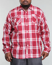 Button-down - Trout Roll Up Long Sleeve Plaid Woven Shirt (B&T)