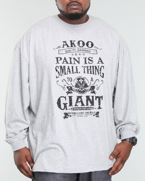 Akoo Men Small Thing To A Giant L/s Tee - Shirts