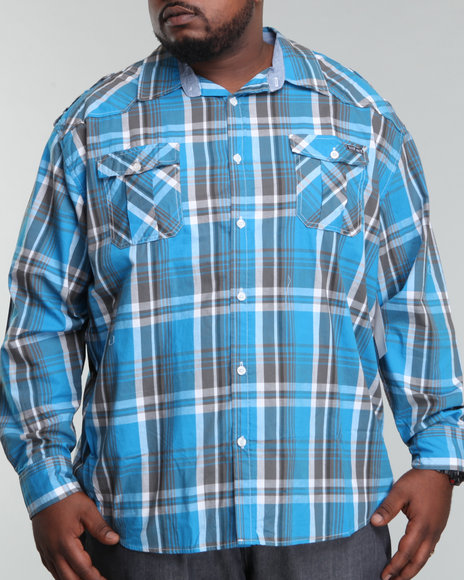 Ecko Blue Button-Downs