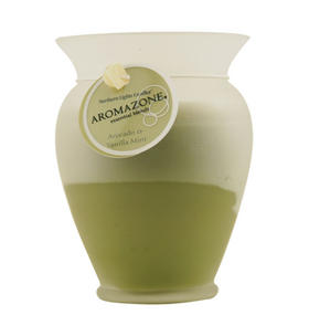 Avocado & Vanilla Mint Essential Blend - One x Inch Medium Frosted Glass Vase Essential