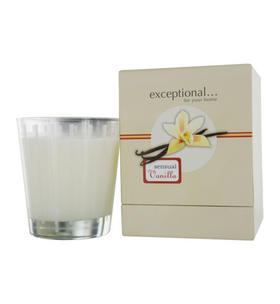 Exceptional Parfums - Sensual Vanilla Scented Tapered Glass Jar Candle